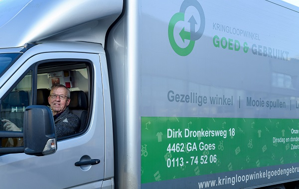 Bedrijfsbus Kringloopwinkel Goed & Gebruikt
